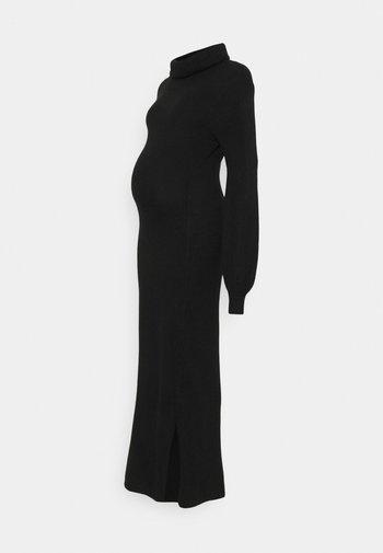 LADIES DRESS - Vestido de punto - black