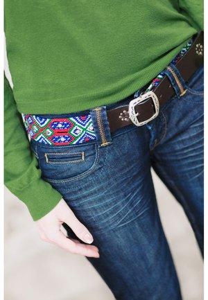 PUEBLA PREPPY - Belt - blau/grün/rot/weiss