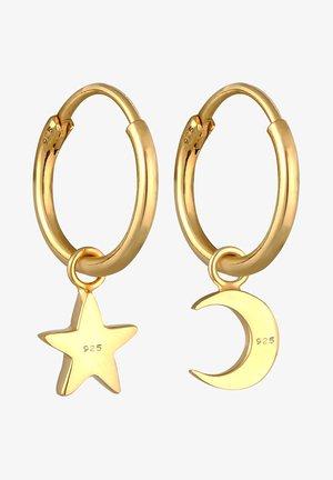 STAR MOON ASTRO LOOK - Korvakorut - gold colored