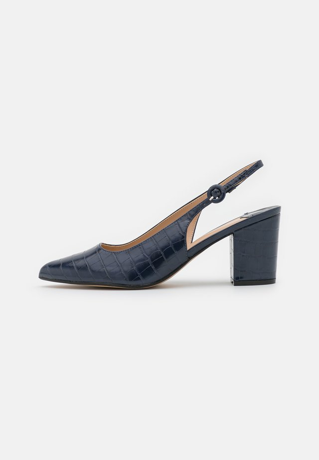WIDE EVIE SLINGBACK COURT - Decolleté - navy