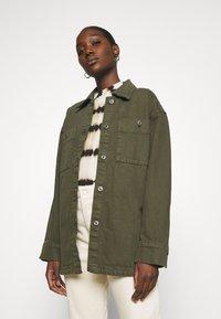 Lindex - JACKET - Summer jacket - dark dusty green - 0