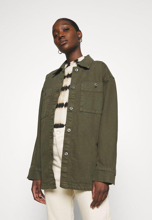 JACKET - Summer jacket - dark dusty green