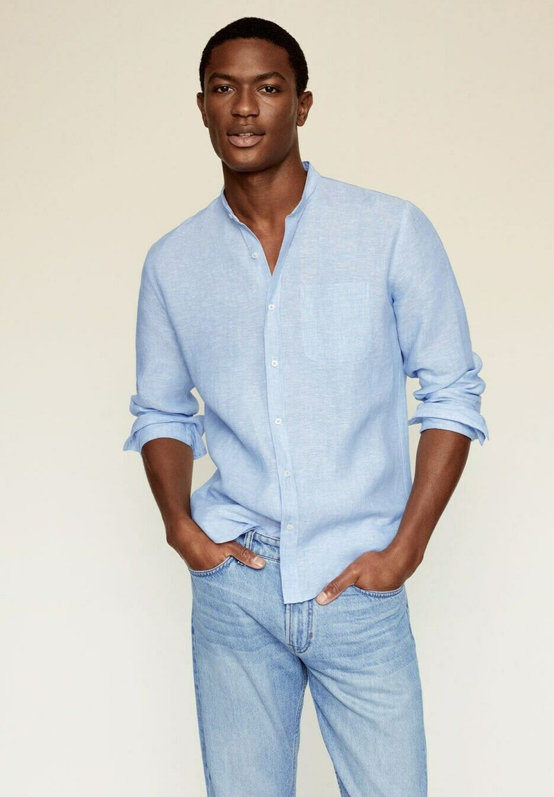 Mango - SLIM FIT  - Shirt - hemelsblauw