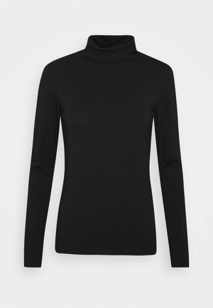 PCSIRENE ROLLNECK - Langærmede T-shirts - black