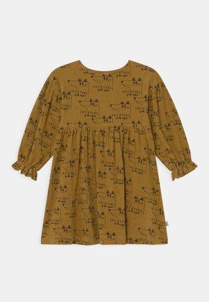 GOLDEN FOX TERRY DRESS - Day dress - gold