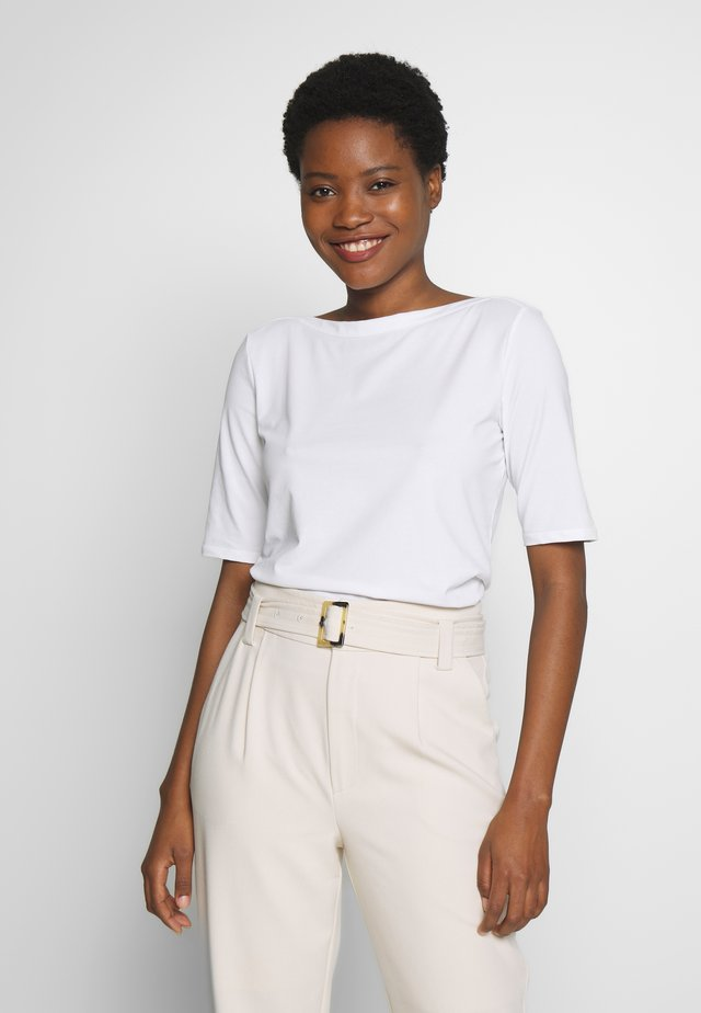 BOATNECK - T-shirt basic - white