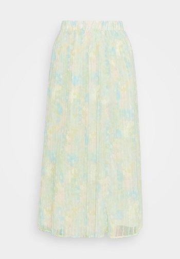 SLFGEORGIA MAXI PLISSE SKIRT - Pleated skirt - young wheat