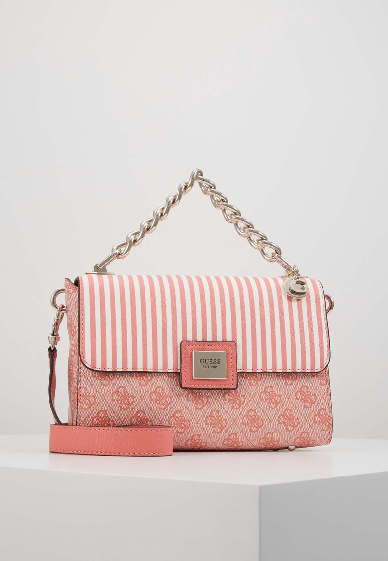 Guess - CANDACE TOP HANDLE FLAP - Bolso de mano - coral
