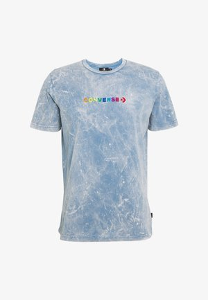 MADE IN ITALY TREATMENT - T-shirt med print - blue slate