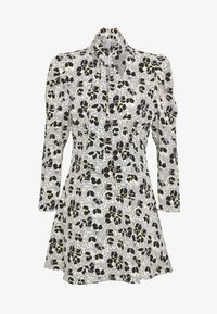 Topshop Petite - TIE NECK MINI DRESS - Korte jurk - ivory - 0