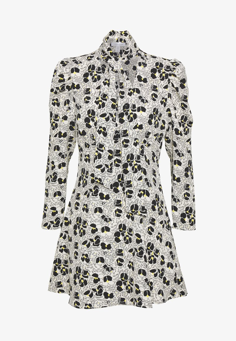 Topshop Petite - TIE NECK MINI DRESS - Korte jurk - ivory