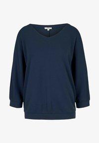 TOM TAILOR - LOOSE MIT STRUKTUR - T-shirt à manches longues - denim blue - 4