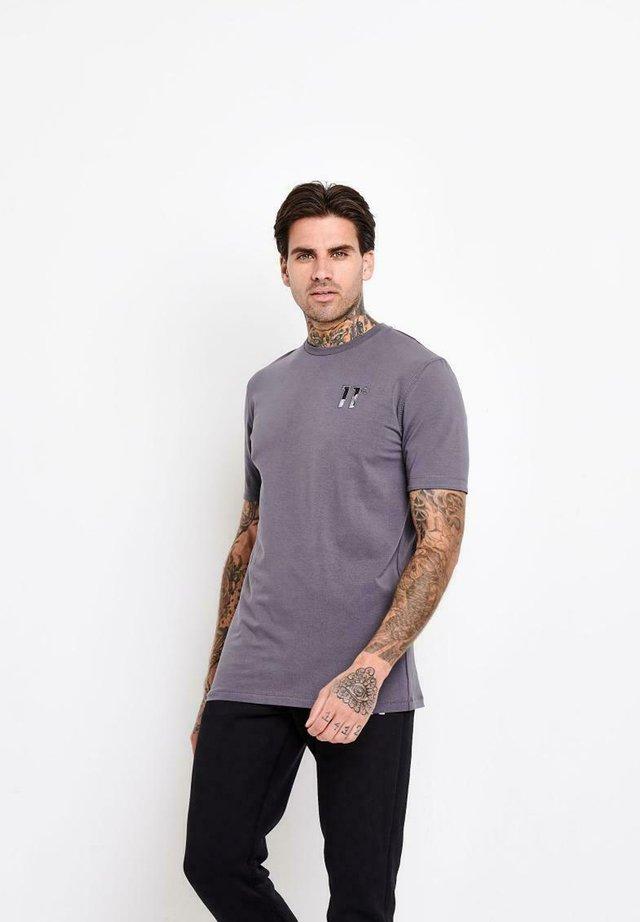 ROLL SLEEVE APPLIQUE - Camiseta básica - grey