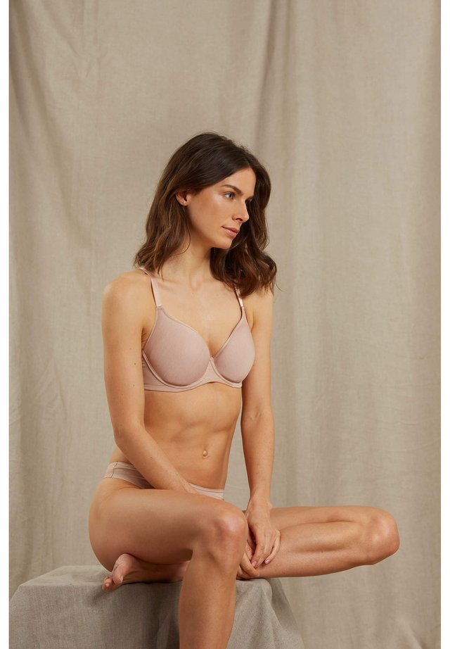 SPACER - Underwired bra - cream tan melange