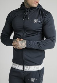 SIKSILK - SCOPE TAPE ZIP THROUGH HOODIE - Felpa aperta - navy - 4