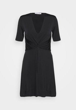 SHORT DRESS - Jersey dress - black