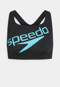 Speedo - BOOM LOGO SET - Bikini - black/light adriatic - 2