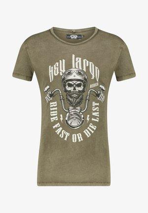 HERREN T SHIRT MT RIDE FAST - Print T-shirt - khaki