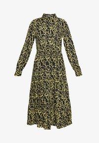 PCNADIN  MIDI DRESS - Shirt dress - black/silhouette flowers