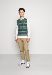 Lacoste LIVE - Pullover - abysm/green/flour - 1