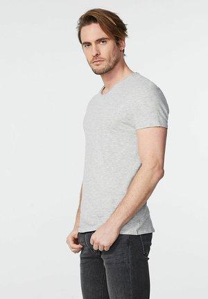 Basic T-shirt - gris chiné