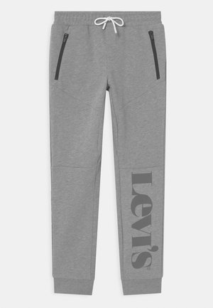 LOGO ZIP - Trainingsbroek - gray marl