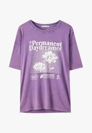 T-shirts print - mottled purple