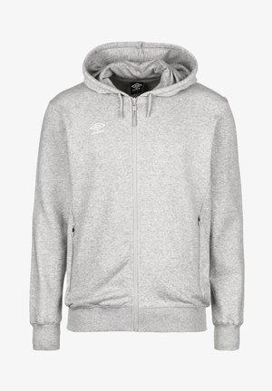 Zip-up hoodie - grey marl / white