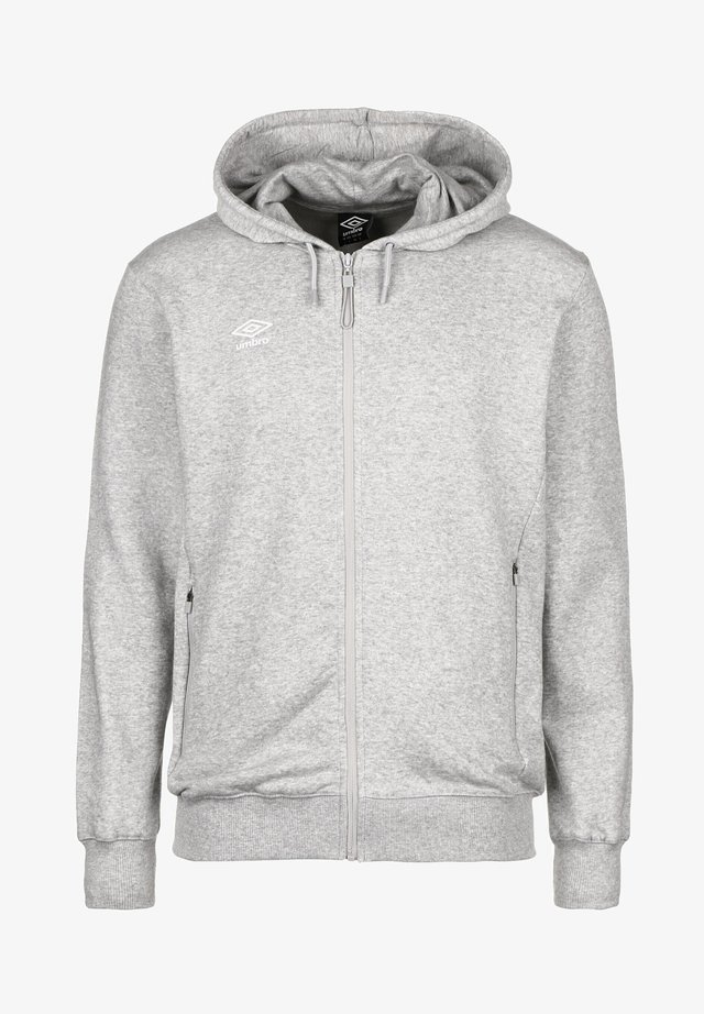 Zip-up hoodie - grey marl / white