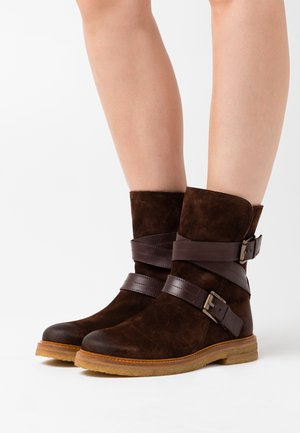 BRENDA - Cowboy/biker ankle boot - dark brown