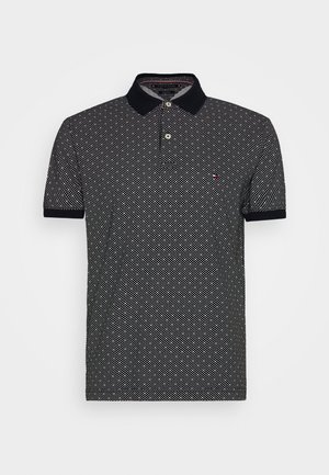 MICRO PRINT REGULAR - Polo - blue