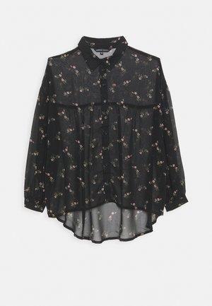 OVERSIZED GATHERED BACK BLOUSE - Camicia - black