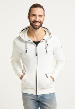 Zip-up hoodie - weiss