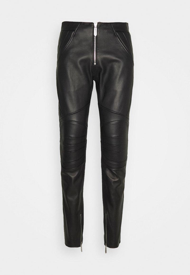Just Cavalli - PANTALONE - Kožené kalhoty - black