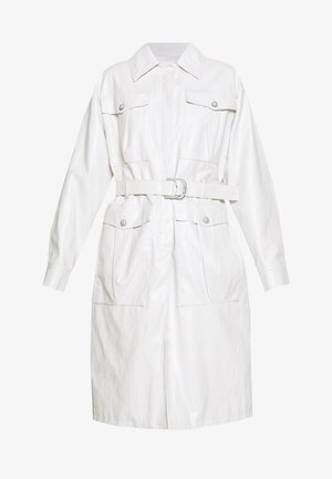 DIPLOMATICA TRENCH WASHED SIMI - Faux leather jacket - bianco