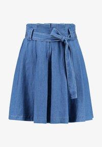 Vila - VIBISTA SHORT SKIRT - A-line skirt - dark blue denim - 3