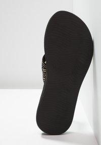 Reef - SPRING  - T-bar sandals - black/white - 6