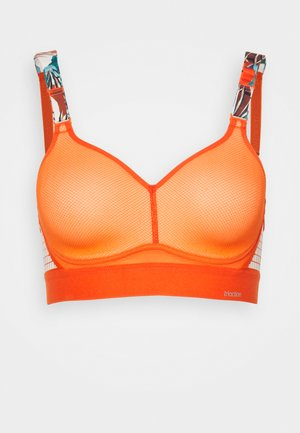 HYBRID LITE - High support sports bra - orange