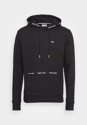 BRANDED TAPE HOODIE - Sweatshirt - black