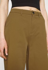 Even&Odd - Wide cropped leg Chino - Trousers - camel - 4
