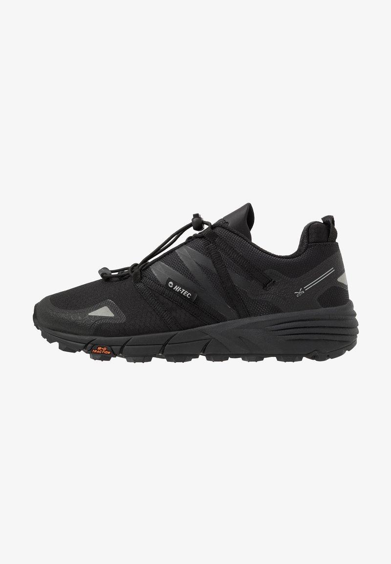 Hi-Tec - V-LITE TRAIL RACER LOW WOMENS - Trail running shoes - black