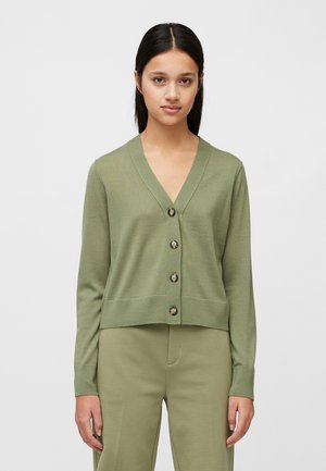 CARDIGAN LONGSLEEVE NECK - Cardigan - dried sage
