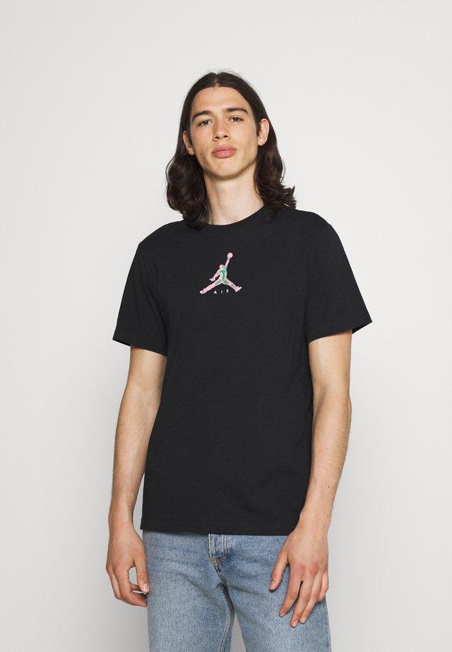 BRAND CREW - T-shirts med print - black
