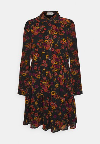 LADIES WOVEN DRESS - Vestito estivo - windflowers black