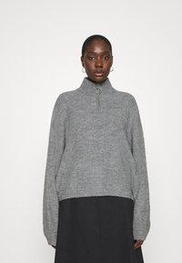 Zign - Half zip jumper - Strickpullover - mid grey - 0