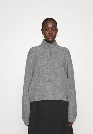 Half zip jumper - Strikkegenser - mid grey