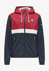 Schmuddelwedda - Waterproof jacket - red/marine - 4