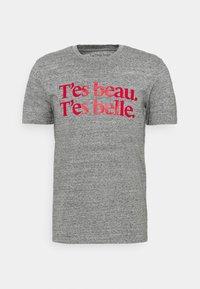 Les Petits Basics - T'ES BEAU T'ES BELLE UNISEX - Print T-shirt - slub heather grey - 0