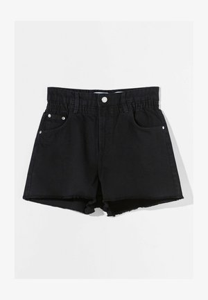 Denim shorts - dark grey