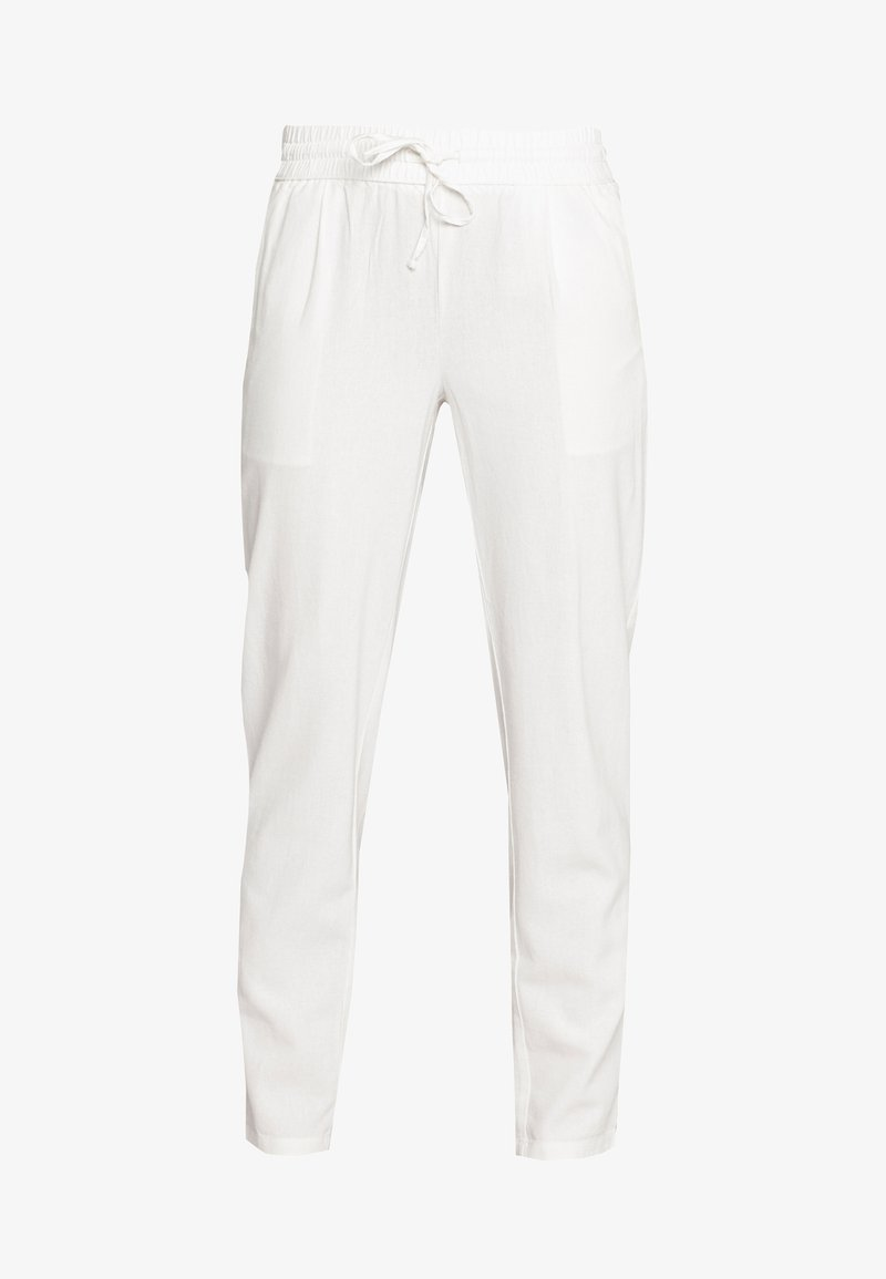 Vero Moda - VMHELENMILO ANCLE PANT - Trousers - snow white